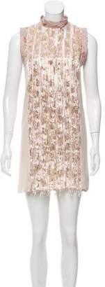 Rachel Comey Aglet Metallic Embellished Dress