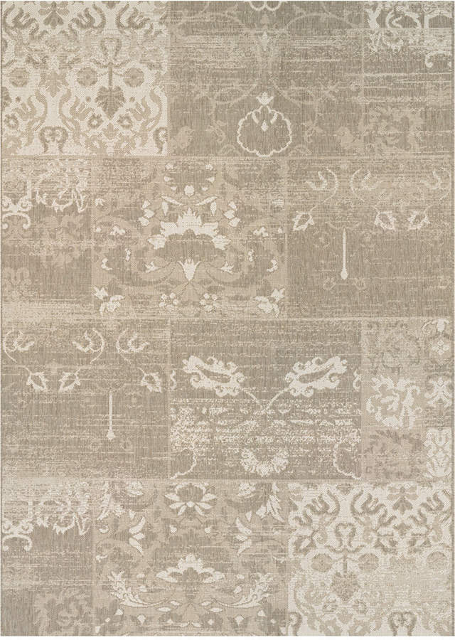 "Couristan Couristan Afuera Indoor/Outdoor Country Cottage Beige-Ivory 2'2"" x 7'10"" Runner Area Rug"