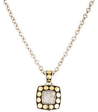 John Hardy Diamond Dot Pendant Necklace