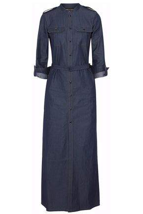 Vanessa Seward Denim Maxi Shirt Dress