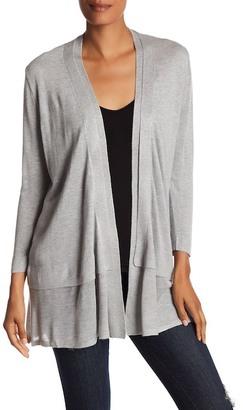 Joan Vass Long Sleeve Layered Cardigan $78 thestylecure.com