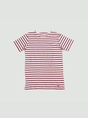 Armor Lux Sailor Shirt S S White Dark Red - L
