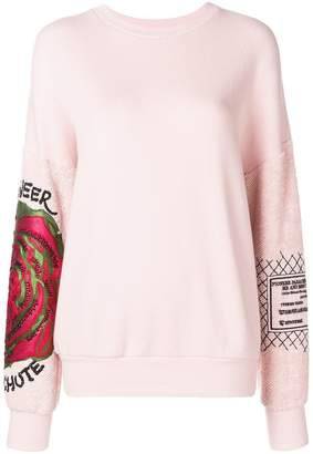 Mr & Mrs Italy embroidered floral sweatshirt