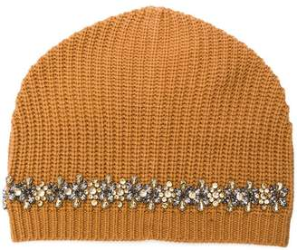 Semi-Couture Semicouture crystal detail beanie