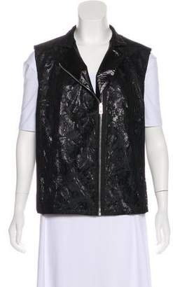 Balenciaga Lace Zip-Up Vest