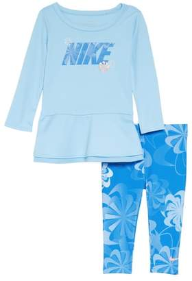 Nike Swoosh Peplum Tunic & Leggings Set