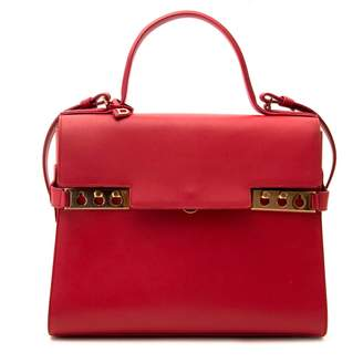 Delvaux Tempete Red Leather Handbags