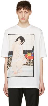 3.1 Phillip Lim White Woman Leopard T-Shirt $150 thestylecure.com