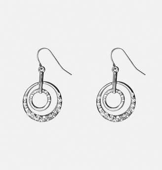 Avenue Stone Encrusted Circle Drop Earrings
