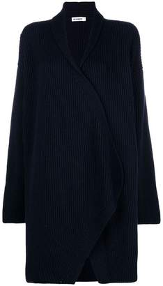 Jil Sander ribbed knit long cardigan