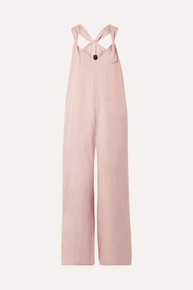 Hatch The Noa Linen-blend Jumpsuit - Blush