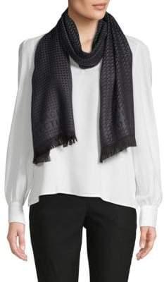 Versace Printed Wool Scarf