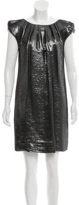 Lela Rose Metallic Mini Dress