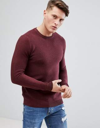 Pull&Bear Knitted Sweater In Red