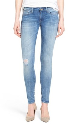 Women's Mavi Jeans Serena Distressed Stretch Skinny Jeans $98 thestylecure.com