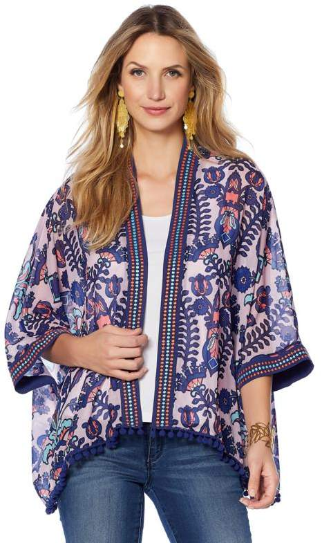Colleen Lopez Collection Colleen Lopez Global Expedition Printed Kimono