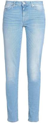 7 For All Mankind Pyper Distressed High-rise Skinny Jeans