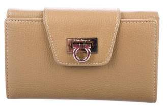 Salvatore Ferragamo Leather Compact Wallet