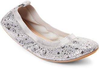 Yosi Samra Kids Girls) Smoke Sammie Paint Dripped Ballet Flats