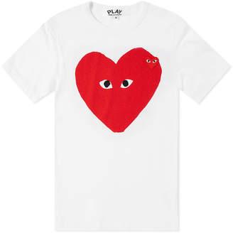 Comme des Garcons Big Heart Logo Tee