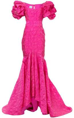 Bambah mermaid ruffled gown