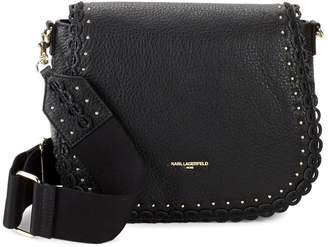 Karl Lagerfeld Paris Kleo Leather Saddle Crossbody Bag