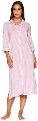 Lauren Ralph Lauren Long Sleeve Roll Cuff Ballet Sleepshirt Women's Pajama