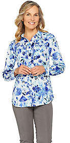 Isaac Mizrahi Live! Woven Button Front Tunicwith Pockets