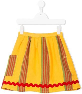 Bobo Choses striped pocket skirt