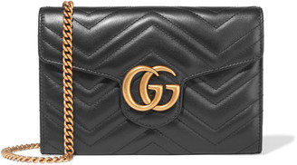 Gucci - Gg Marmont Quilted Leather Shoulder Bag - Black $1,300 thestylecure.com