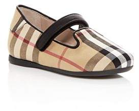 Burberry Girls' Ally Ballerina Mary Jane Flats - Walker, Toddler