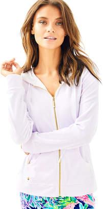 Lilly Pulitzer Larina Solid Velour Zip Up Hoodie