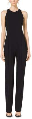 Michael Kors Pebble-Crepe Jumpsuit
