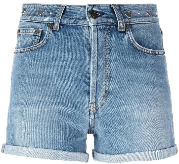 Saint LaurentSaint Laurent stonewashed denim shorts