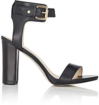 Barneys New York WOMEN'S GINA LEATHER ANKLE-STRAP SANDALS - BLACK SIZE 9