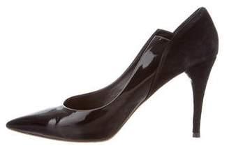Chloé Black Pointed-Toe Pumps