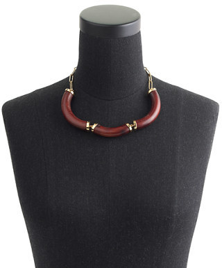 J.Crew Curved wood necklace