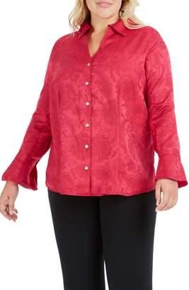 Foxcroft Ellery Paisley Jacquard Shirt