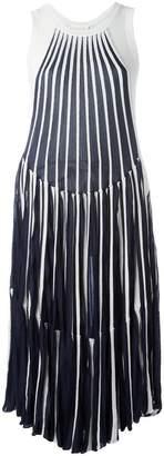 Chloé vertical stripe midi dress