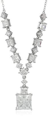 Sterling Silver Cubic Zirconia Y-Neck Statement Necklace