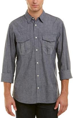 Billy Reid Clancy Selvedge Standard Fit Woven Shirt