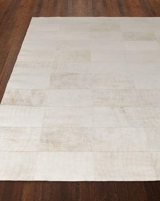 """Exquisite Rugs Dooley Ivory Leather Rug, 9'6"""" x 13'6"""""""