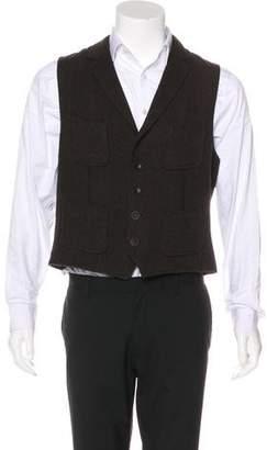 Rag & Bone Herringbone Wool Suit Vest