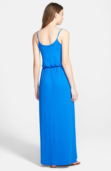 Lush Knit Solid Color Maxi Dress