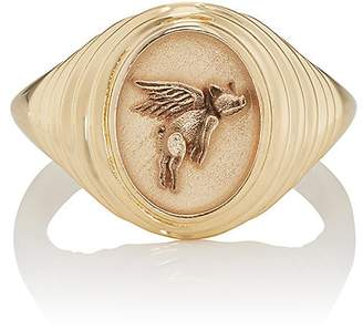RETROUVAI Women's Tiered Fantasy Signet Ring