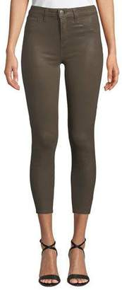 L'Agence Margot High-Rise Coated Skinny Jeans