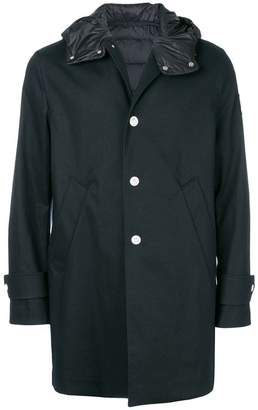 Moncler padded detail single breasted coat