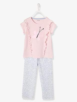 Girls' Jersey Knit Pyjamas - pink light 2 color/multicol r