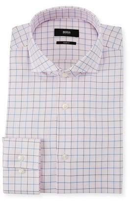 BOSS Men's Slim Fit Box Cotton Dress Shirt