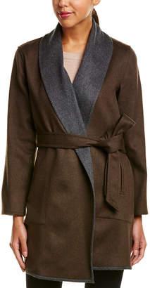 Sofia Cashmere sofiacashmere Sofiacashmere Reversible Wool & Cashmere-Blend Coat